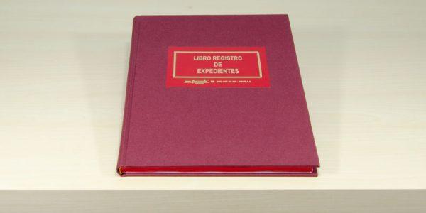 Libro registro de expedientes