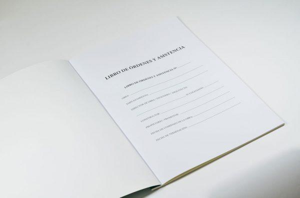 Hoja identificación Libro de órdenes