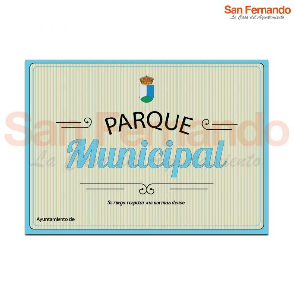 cartel entrada parque ayuntamiento