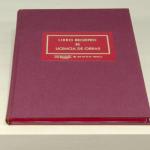 Libro registro licencias obras