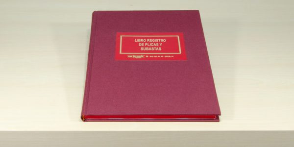 Libro registro plicas y subastas