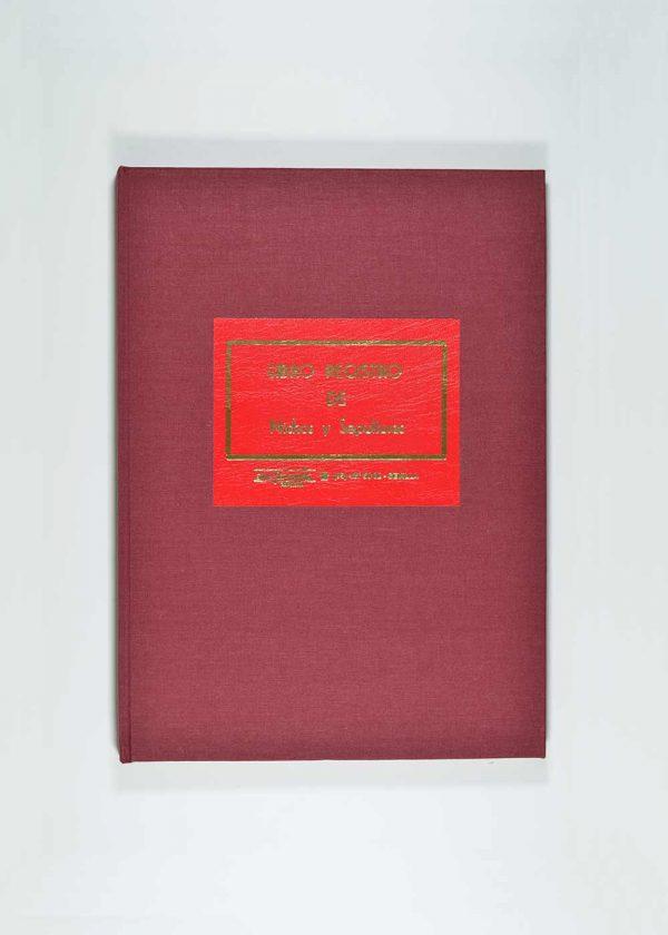 Libro registro nichos y sepulturas