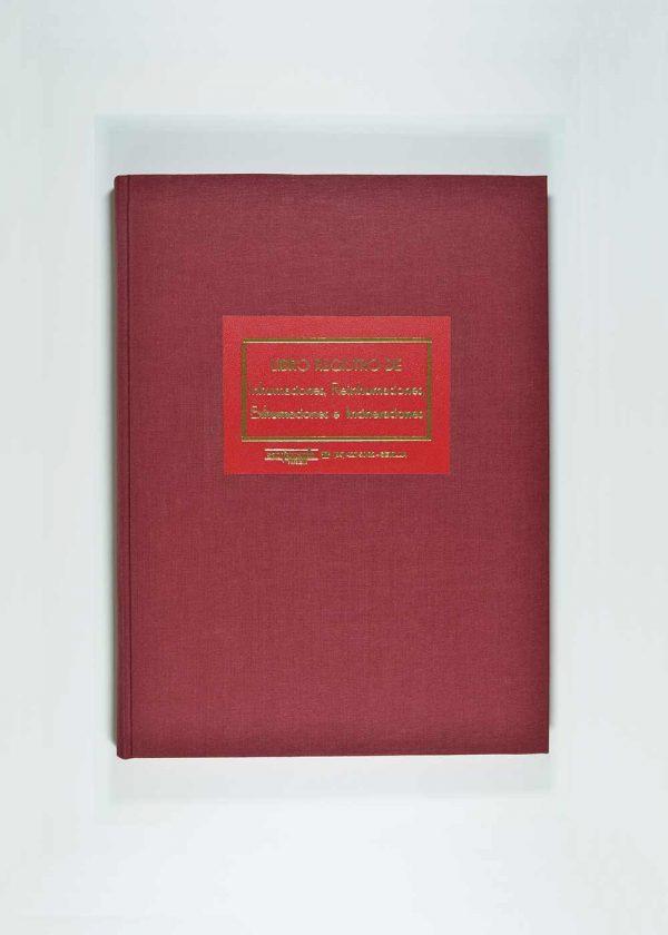 Libro registro inhumaciones reinhumaciones exhumaciones incineraciones