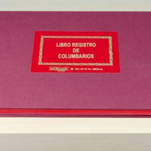 Libro registro de columbarios - Cementerios