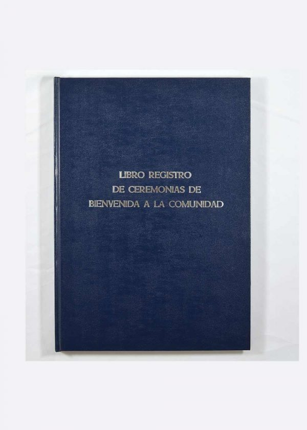 Libro registro municipal ceremonias bienvenida comunidad