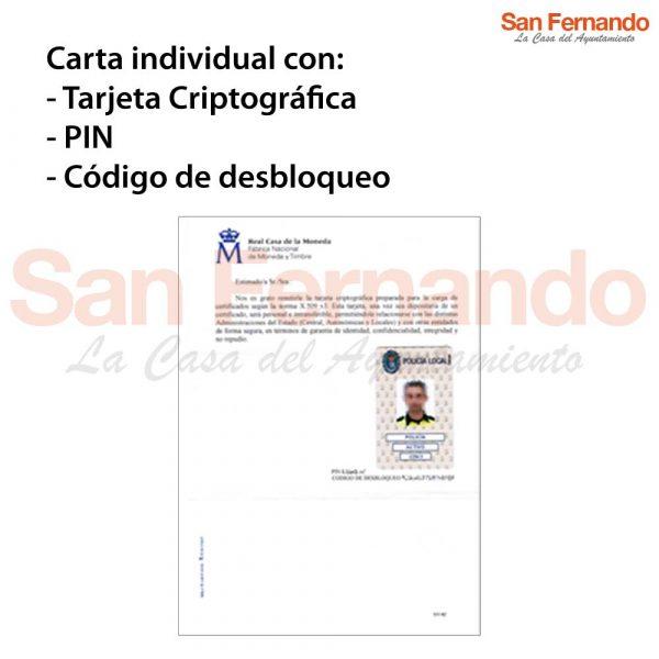 carnet oficial Policía Local - CERES - FNMT - certificado digital PIN