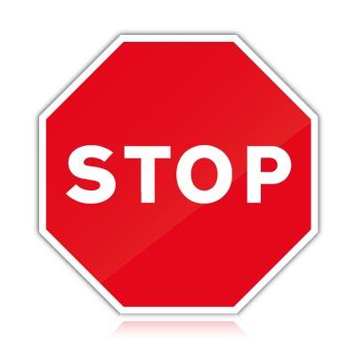 senal trafico octogonal stop
