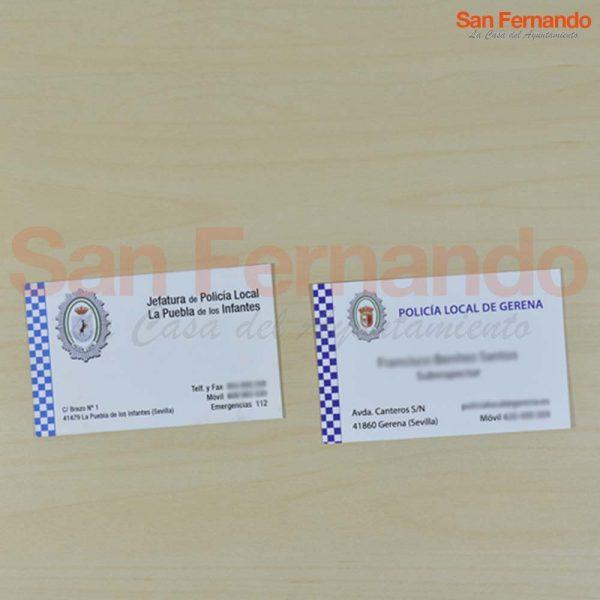 Tarjeta / carnet para Policía Local