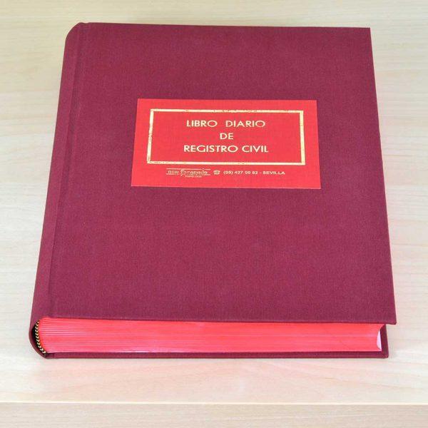 Libro Diario de Registro Civil