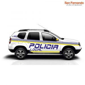 Rotulo vinilo reflectante coche Policía Local