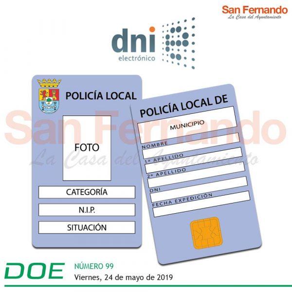 chip tarjeta policia local extremadura
