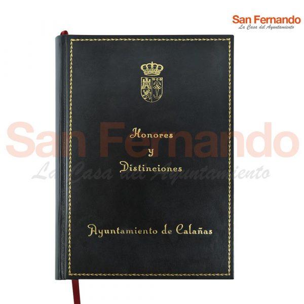 libro protocolo encuadernado personalizado para personalidades ilustres Ayuntamiento