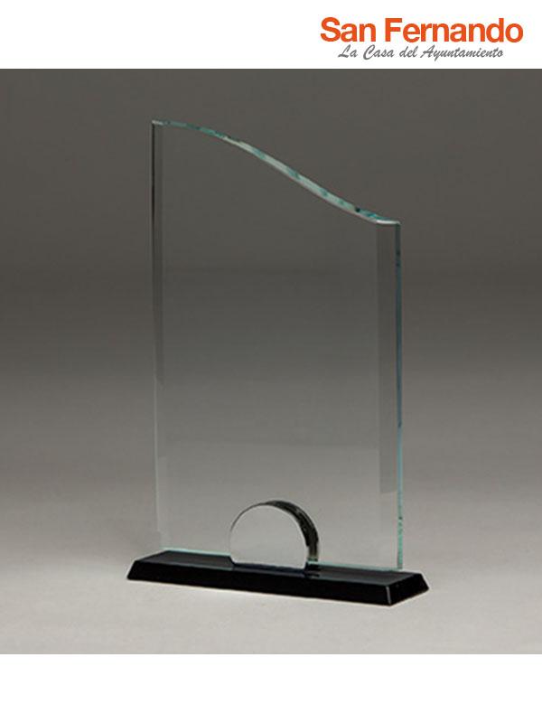 trofeo de cristal grabación laser CO2 personalizado
