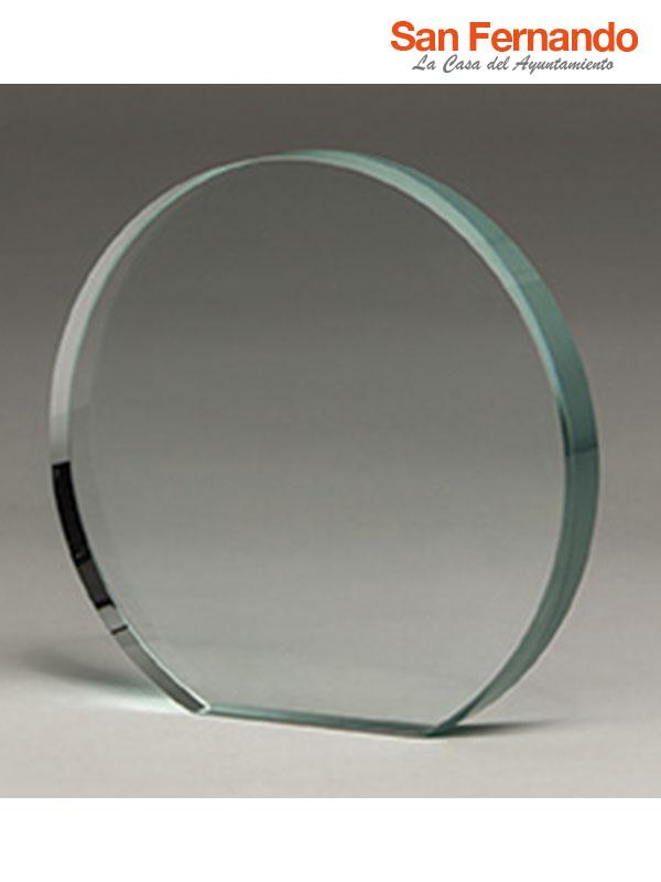 trofeo de cristal grabación laser CO2 color personalizado