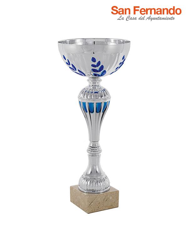 Copa trofeo balón con base de mármol personalizable
