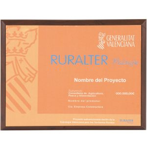 placa de homenaje ayuntamiento a color