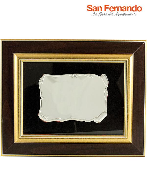 placa con orla pergamino enmarcada para colgar a pared