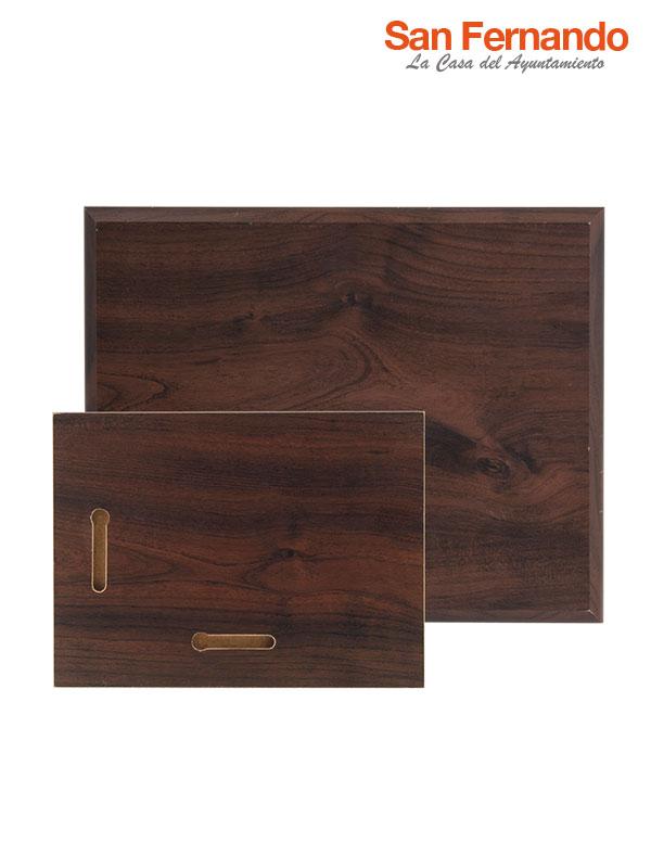 placa de madera de nogal