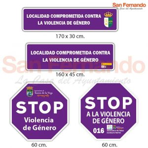 Señal localidad comprometida contra la violencia de género
