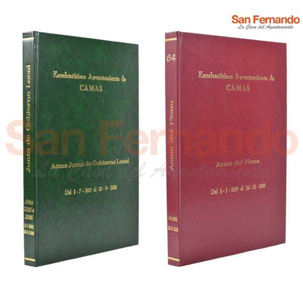 Encuadernación artesanal libros Ayuntamiento