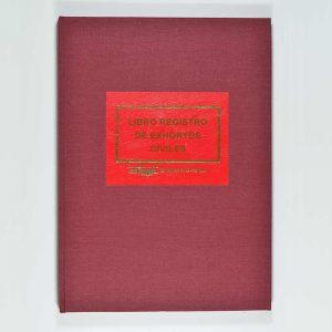 Libro Registro Exhortos Civiles