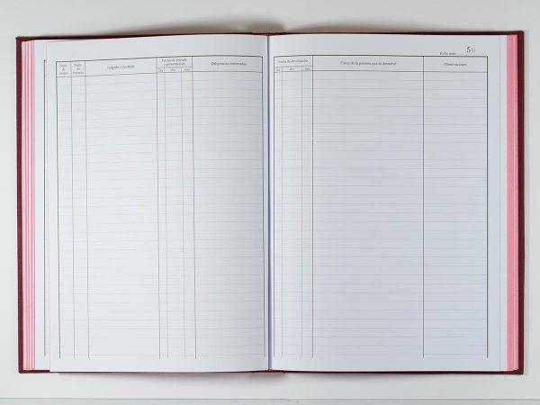 Hojas de libro de registro personalizado