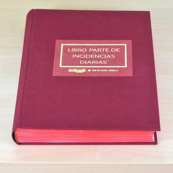 Libro registro parte incidencias diarias