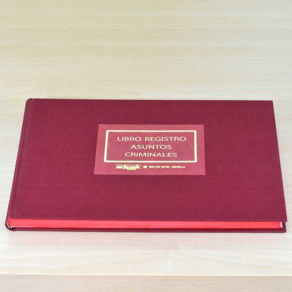 Libro Registro Asuntos Criminales