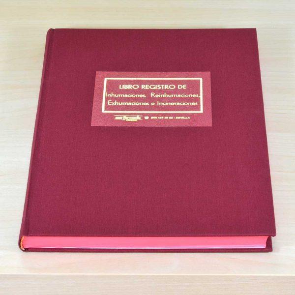 Libro registro cementerio Inhumaciones