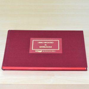 Libro Registro de Entradas - Encuadernación libros para Ayuntamientos