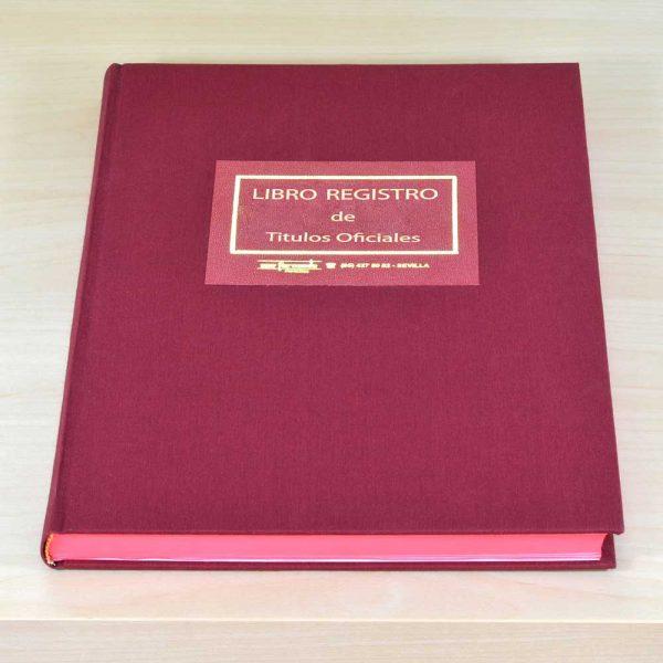 Libro Registro Títulos Oficiales