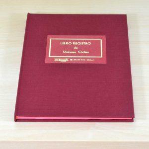 Libro Registro Uniones Civiles / Parejas de Hecho