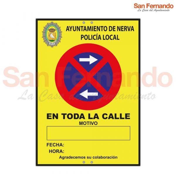 Cartelería excepcional provisional Policía Local