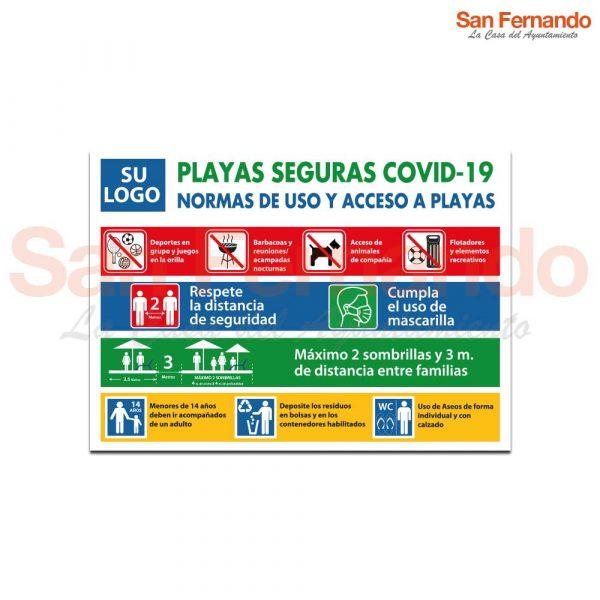 cartel norma de uso playas seguras covid-19