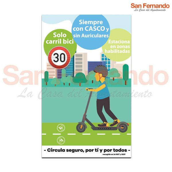 Cartel informativo Personalizado patinete Ayuntamiento