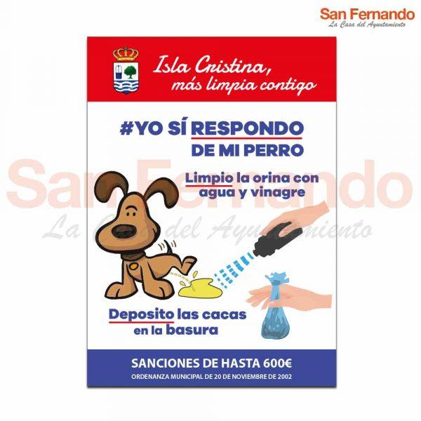 Cartel informativo orina y caca perro ciudades
