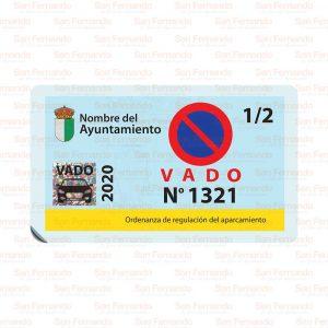 Estacionamiento permitido en reserva de vado permanente