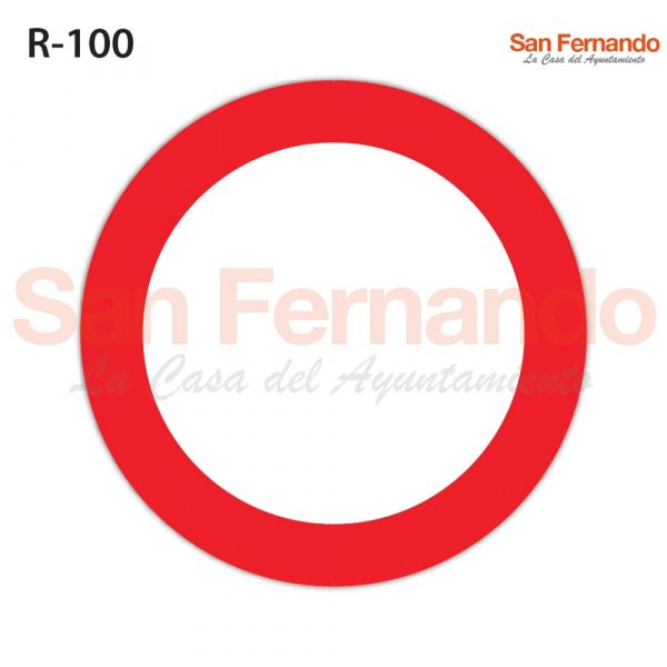 senalizacion vertical, prohicion entrada roja y blanca