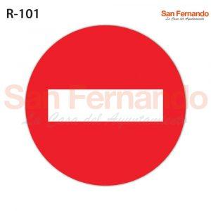 senal verticl prohibion entrada roja redonda