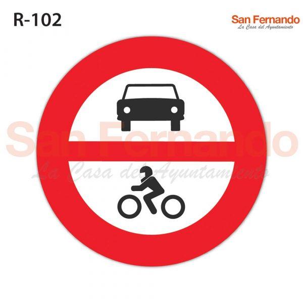 senalizacion vertical, prohibicion entrada motos y coches