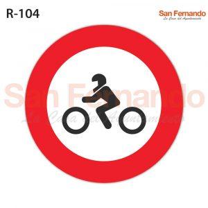 senalizacion vertical, prohibicion entrada motocicletas