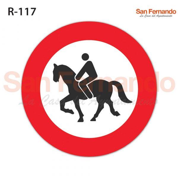 senalizacion vertical prohibicion acceso caballos