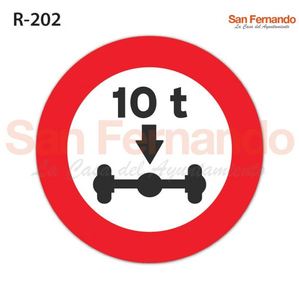 senal vertical restriccion peso eje