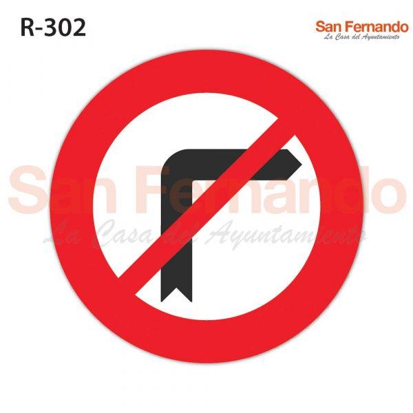 senalizacion vertical prohibido giro derecha