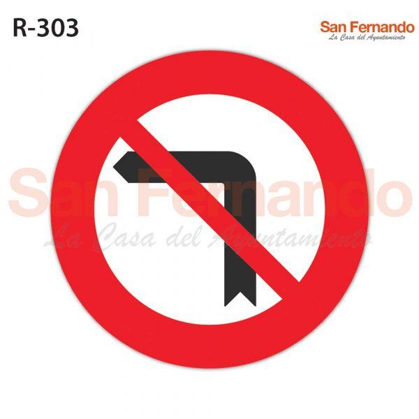 senalizacion vertical prohibicion giro izquierda