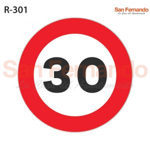 senal prohibicion velocidad superior 30