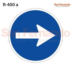senal R400 sentido direccion obligatorio