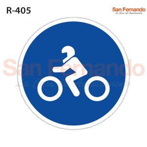 carretera para motos. senal redonda azul obligatorio