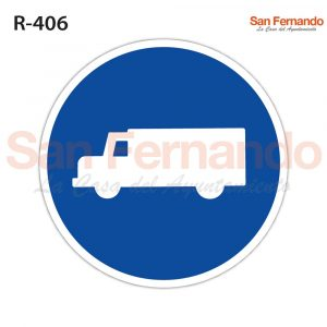 carretera uso obligatorio furgonetas camiones. senal redonda azul