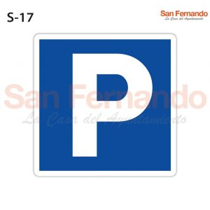 estacionamiento indicaciones generales cuadrada azul